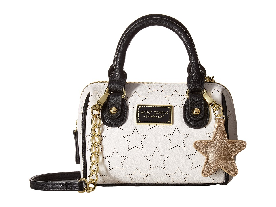 Betsey Johnson - Mini Satchel Crossbody (Bone/Black) Cross Body Handbags