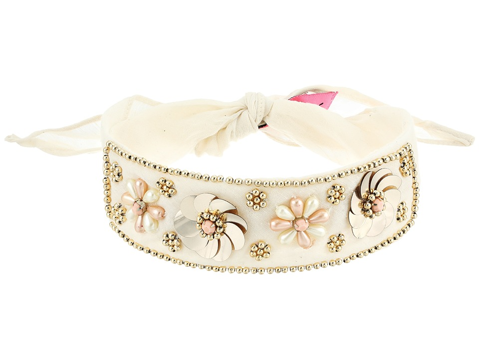 Betsey Johnson - Beaded Blooms Choker (Ivory) Necklace
