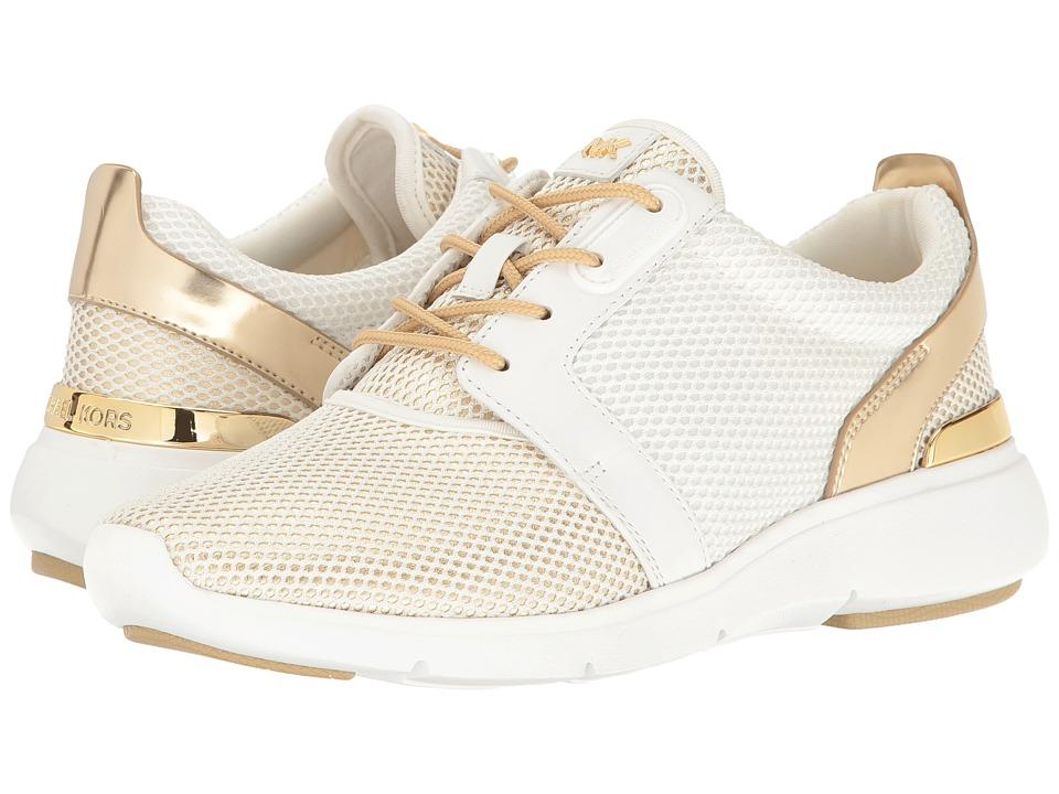 MICHAEL Michael Kors - Amanda Trainer (Optic/Pale Gold) Women's Shoes
