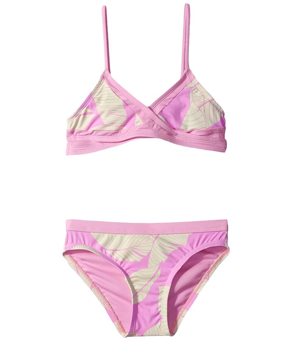 Hobie Kids Fronds Forever Wrap Bra and Hipster Pants (Big Kids) (Pop Pink) Girl