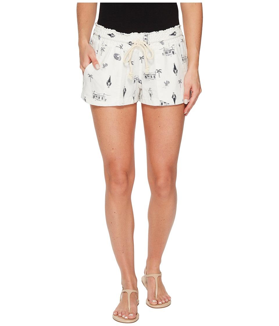 Roxy Oceanside Printed Non-Denim Shorts (Marshmallow Sombrero) Women