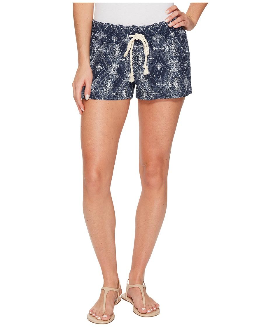 Roxy Oceanside Printed Non-Denim Shorts (Dress Blue Chamane Voice) Women