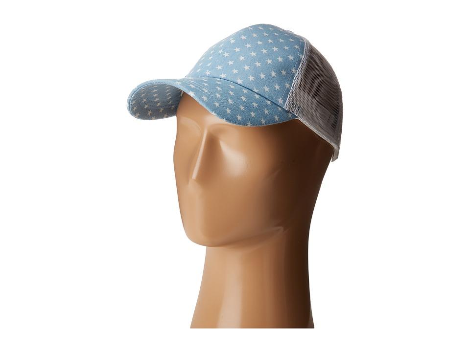 Steve Madden - Star Baseball Cap (Light Denim) Baseball Caps