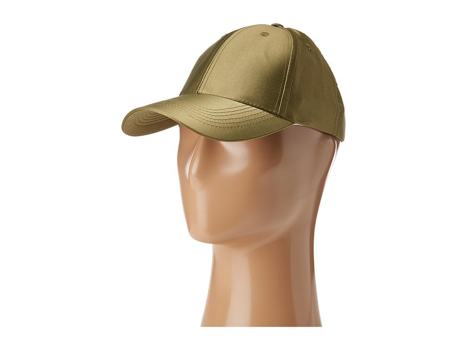 Steve Madden - Satin Baseball Cap (Olive) Baseball Caps