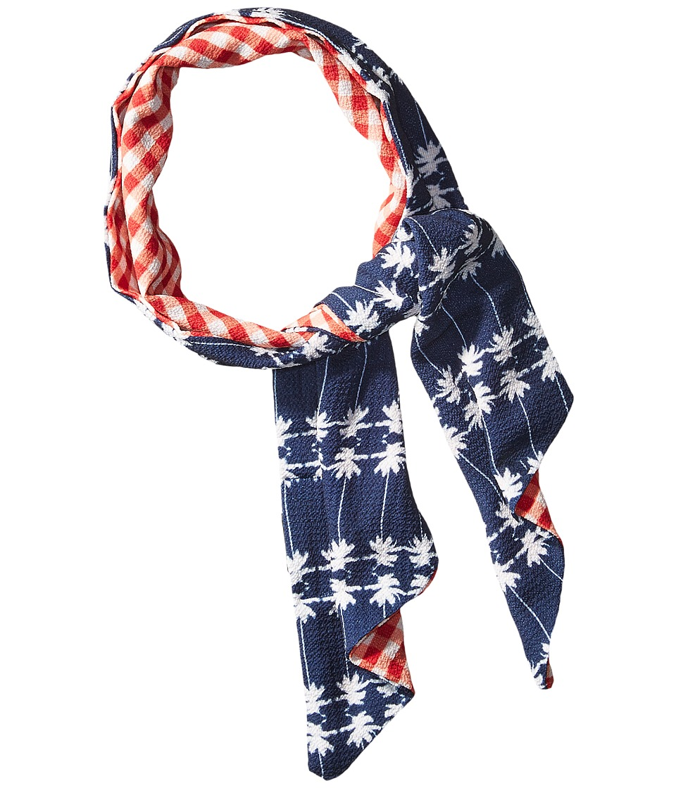 Steve Madden - Gingham Girl On Palm Tree Drive (Red) Scarves
