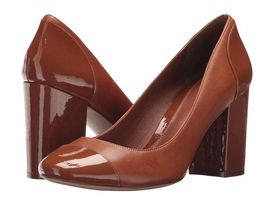 LAUREN Ralph Lauren Fallon (Deep Saddle Tan/Deep Saddle Tan Super Soft Leather/Patent) Women