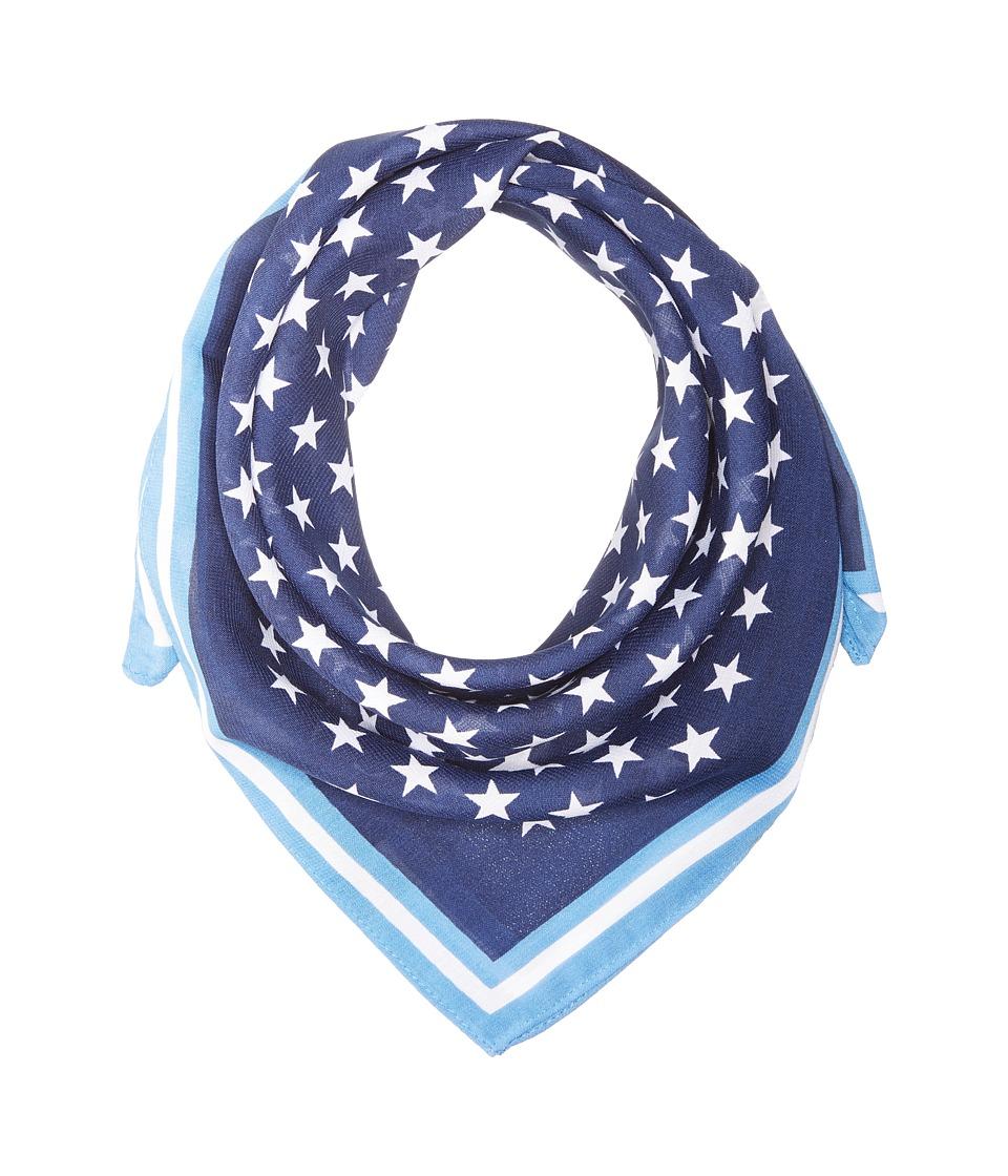 Steve Madden - Stars and Stripes Square Neckerchief (Denim) Scarves