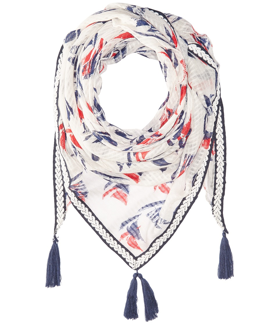 Steve Madden - Cross The Sea Triangle Day Wrap (Red) Scarves