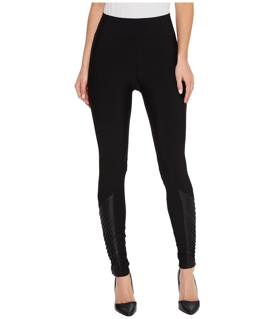 Plush Fleece-Lined Athletic Ankle Moto Leggings (Black) Women