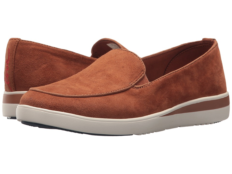 ED Ellen DeGeneres Antona (New Cognac/New Cognac Kid Suede/Felted Elastic)  Women's Shoes