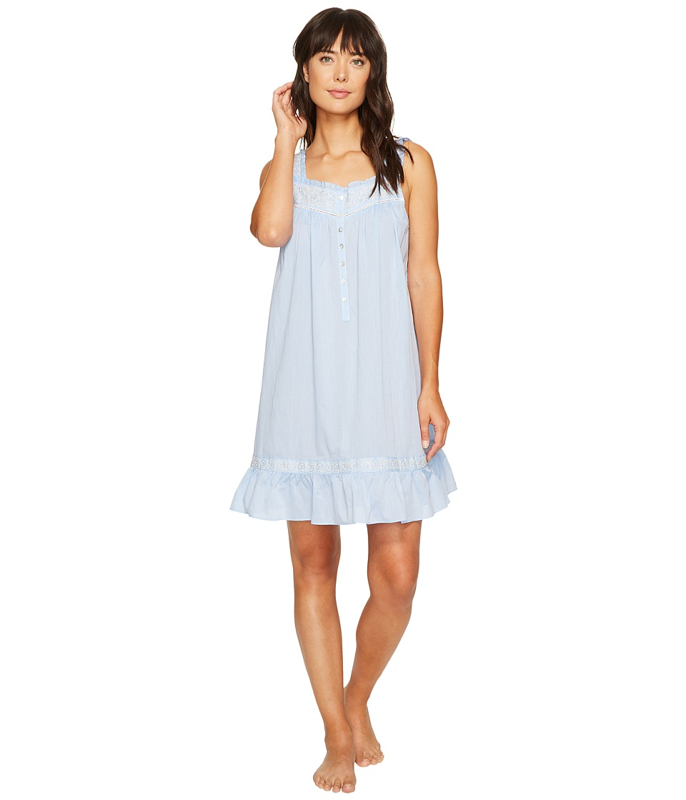 Eileen West - Short Nightgown Sleeveless (Heather Blue) Women's Pajama