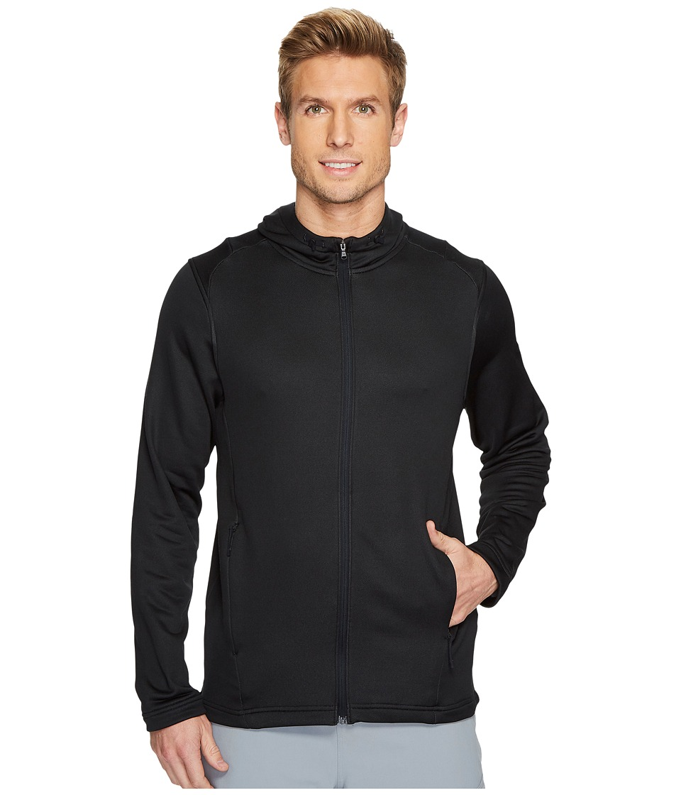 Under Armour Tech Terry Full Zip Hoodie (Black/Black) Men