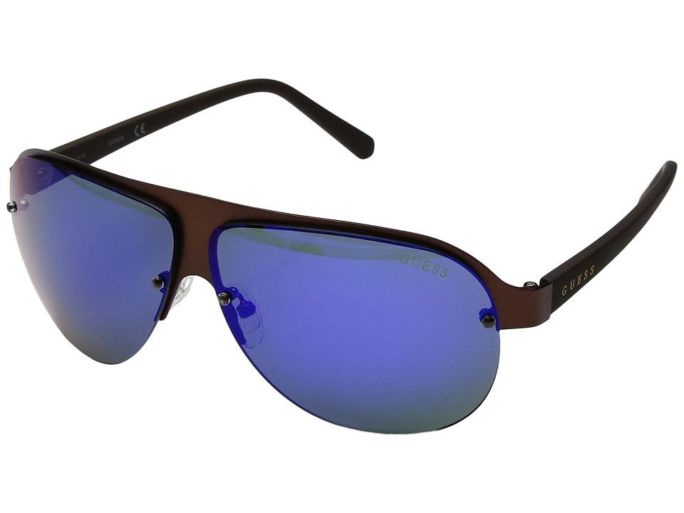 GUESS - GF0148 (Matte Dark Brown) Fashion Sunglasses