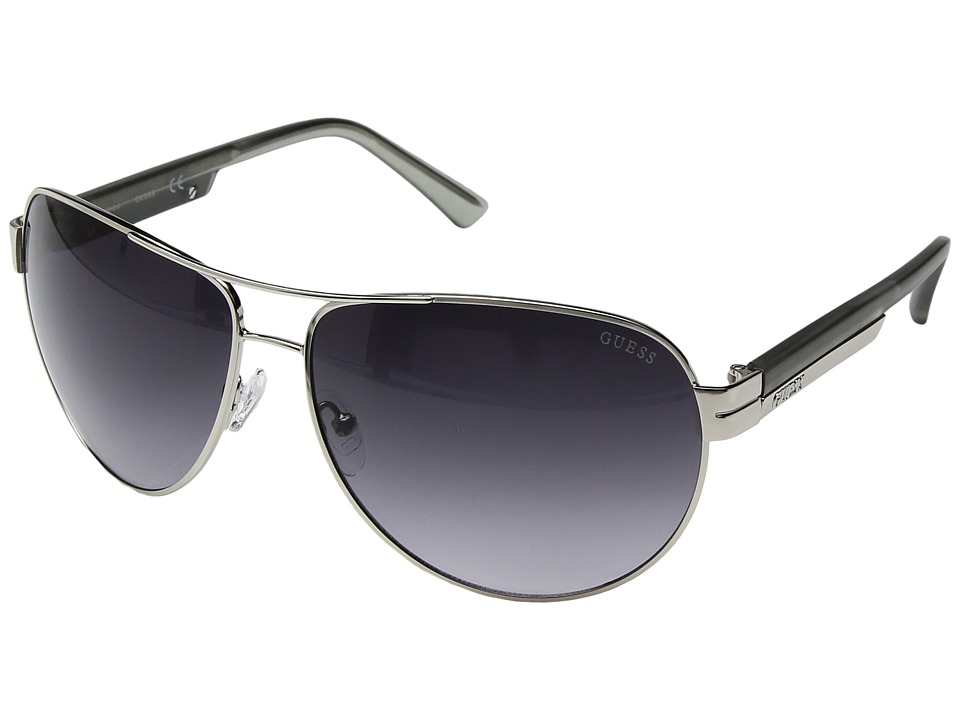 GUESS - GF0131 (Shiny Light Nickeltin) Fashion Sunglasses