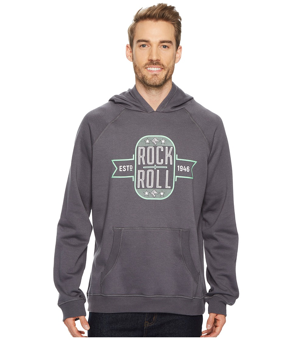 Rock and Roll Cowboy Long Sleeve Pullover Hoodie P8H4005 (Charcoal) Men's Sweatshirt