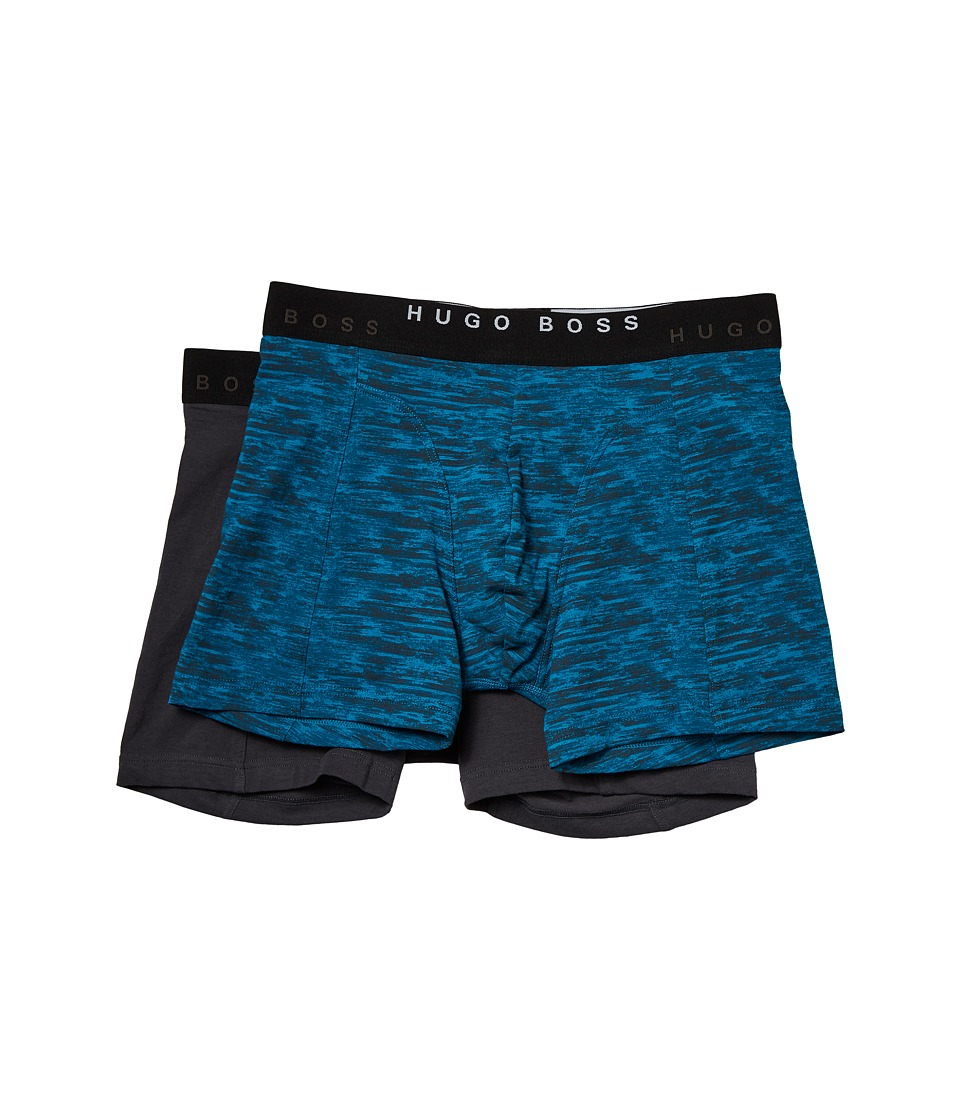 BOSS Hugo Boss - Boxer Brief 2-Pack Print (Open Blue) Men's Underwear