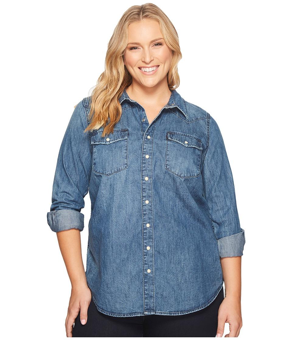 Lucky Brand - Plus Size Western Shirt (Ballard) Women's Long Sleeve Button Up