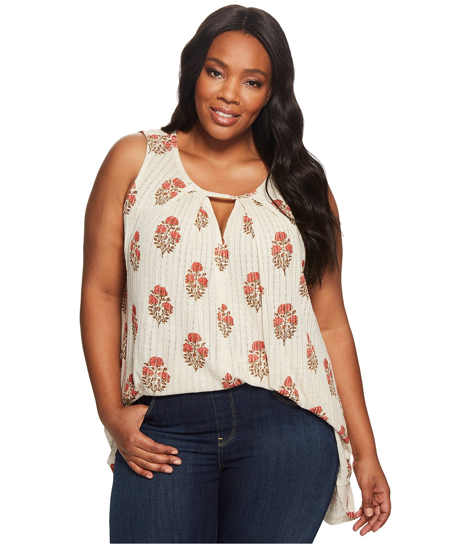 Lucky Brand - Plus Size Woodblock Tunic (Natural Multi) Women's Sleeveless