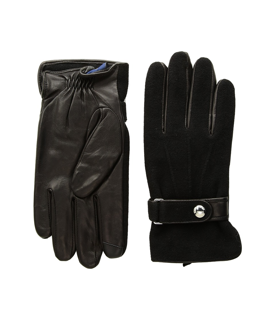 Polo Ralph Lauren Wool Melton Gloves (Ralph Lauren Black) Wool Gloves