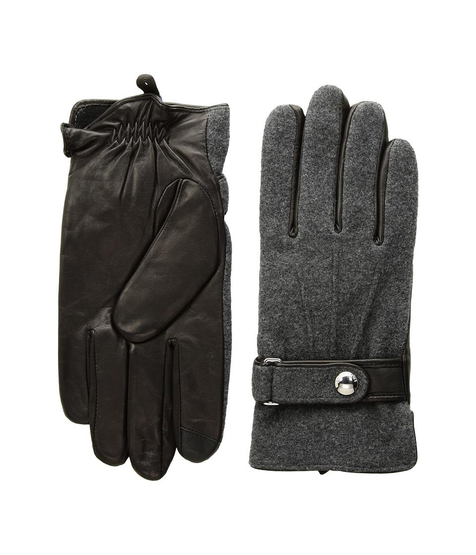 Polo Ralph Lauren Wool Melton Gloves (Charcoal Heather) Wool Gloves