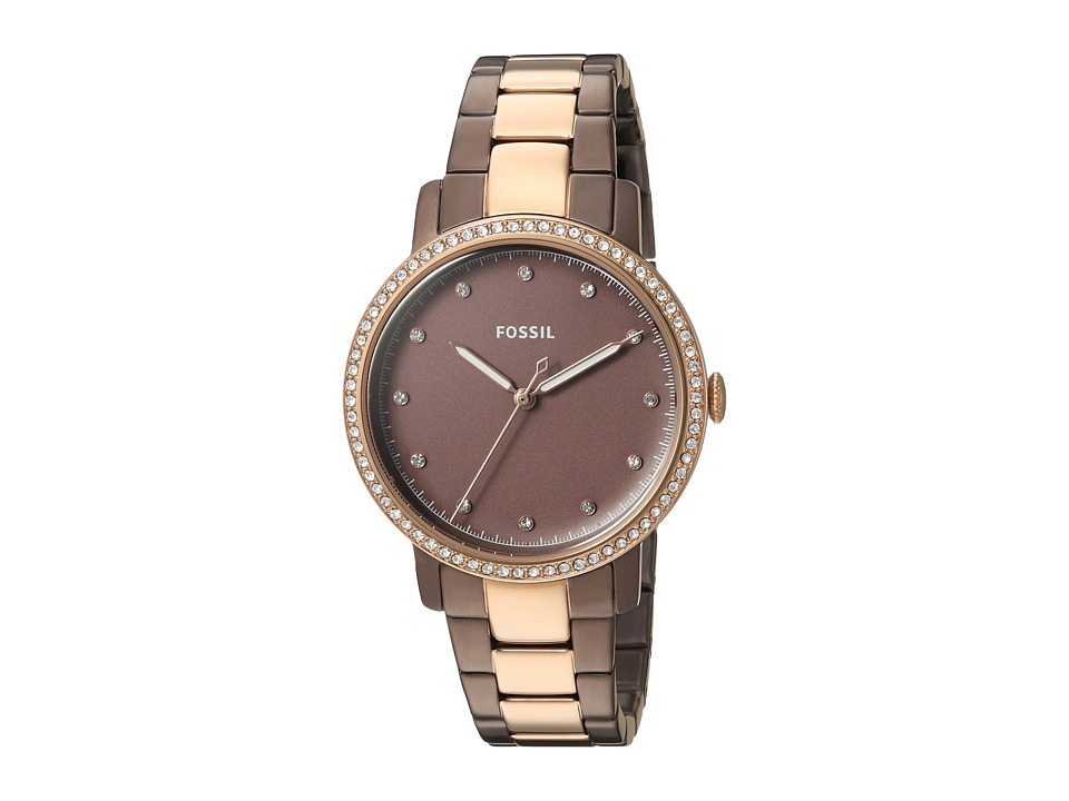 Fossil - Neely - ES4300 (Brown/Rose Gold) Watches