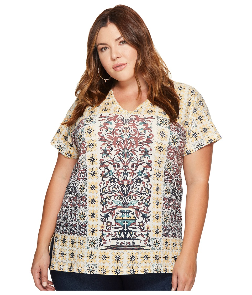 Lucky Brand Plus Size Morrocan Tile Tee (Multi) Women