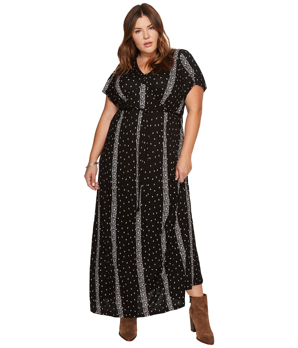 Lucky Brand Plus Size Striped Ditsy Maxi Dress