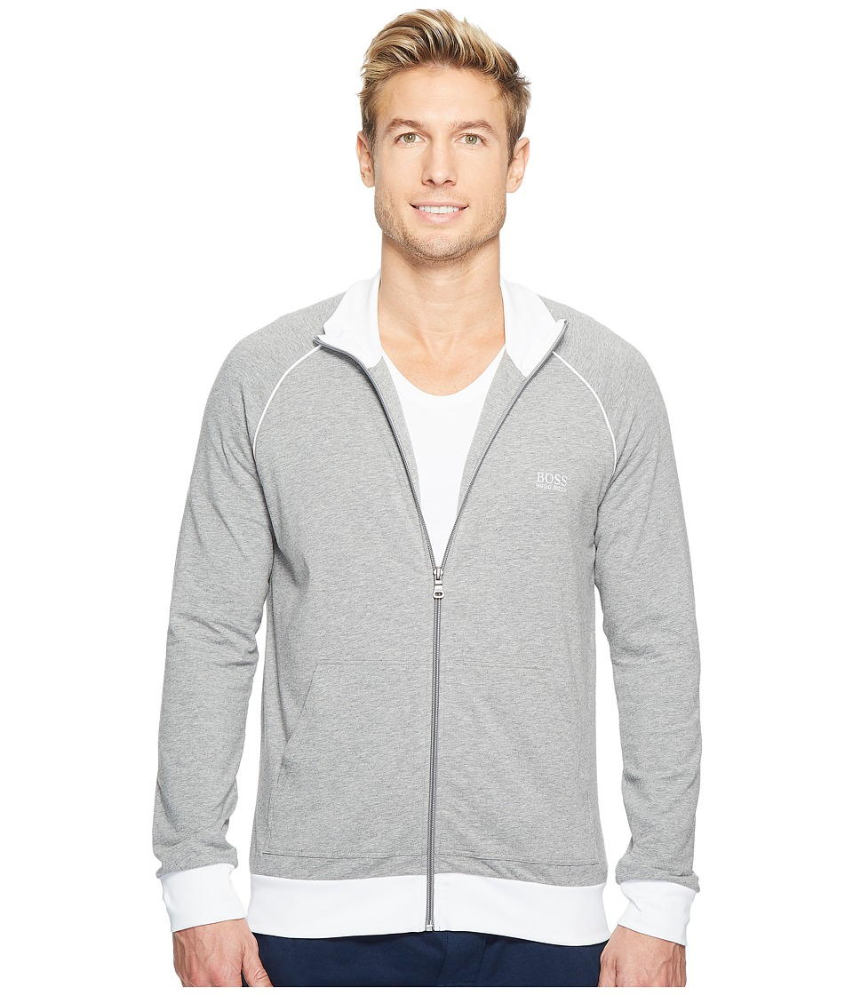 BOSS Hugo Boss - Mix and Match Jacket Zip 10143871 (Medium Grey) Men's Pajama