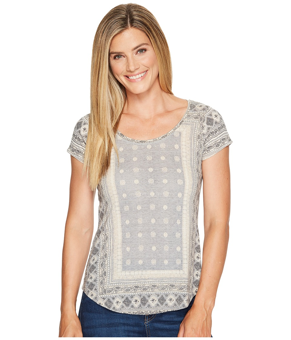 Lucky Brand - Short Sleeve Placed Tee (Grey Multi) Women's T Shirt