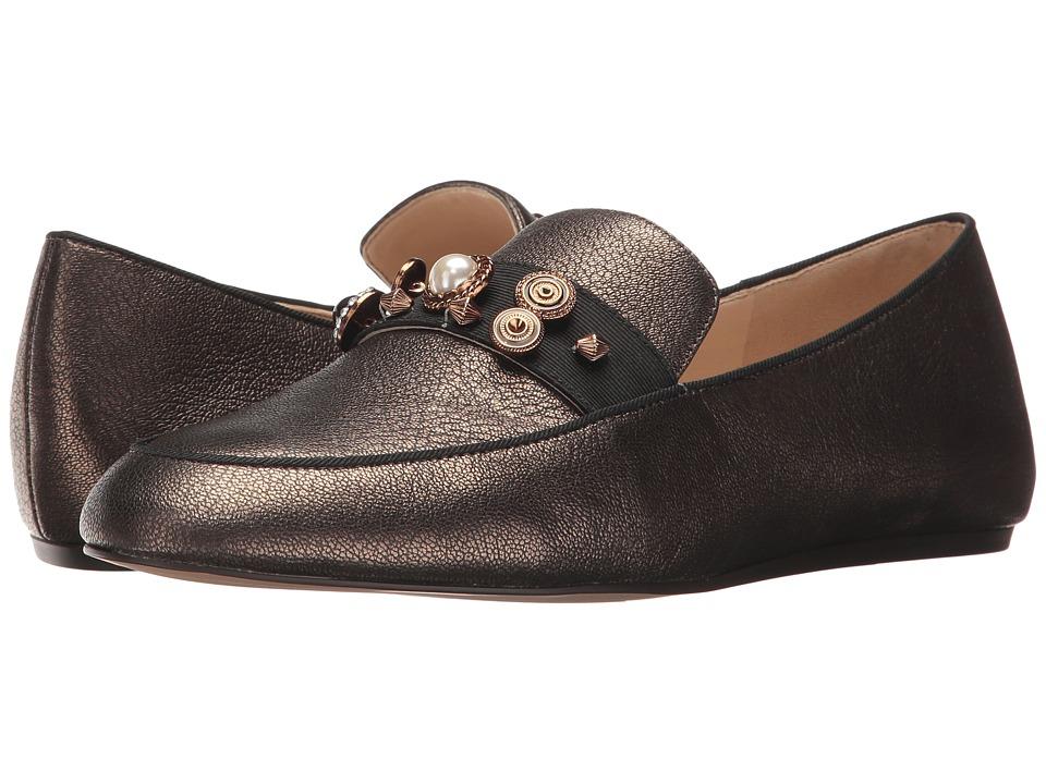 Nine West - Baus (Dark Gold/Black Metallic) Women's Slip on Shoes