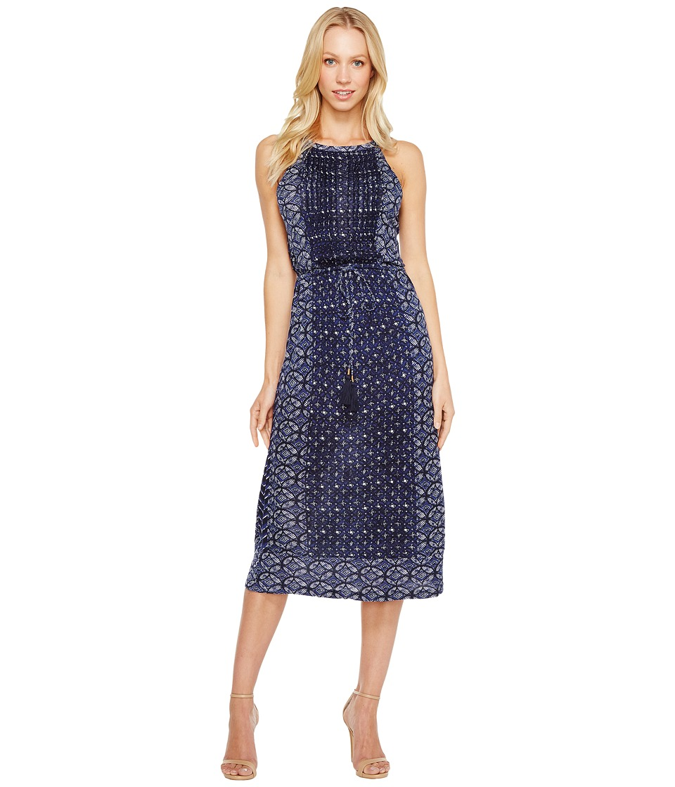 Lucky Brand - Printed Knit Dress (Blue Multi) Women's Dress