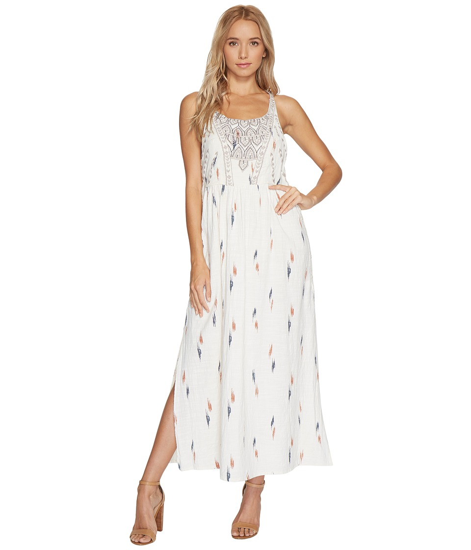Lucky Brand Embroidered Apron Dress (Natural Multi) Women