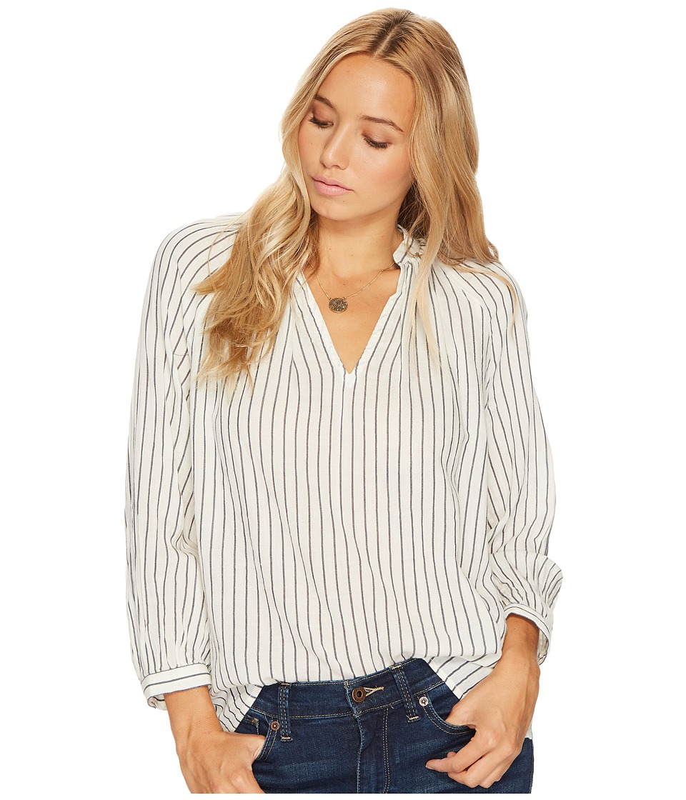 Lucky Brand - Peasant Top (Black Multi) Women's Long Sleeve Pullover