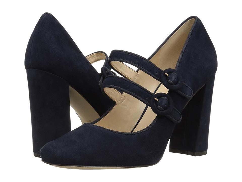 Nine West Dabney (Navy/Navy Suede) High Heels