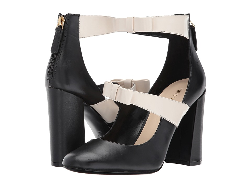 Nine West - Dannell (Black/Off-White Leather) Women's Shoes