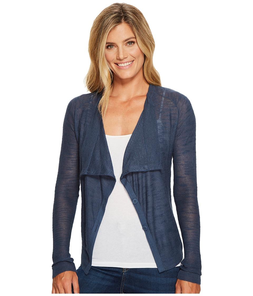 Lucky Brand - Linen Drape Cardigan Sweater (Dark Denim) Women's Sweater