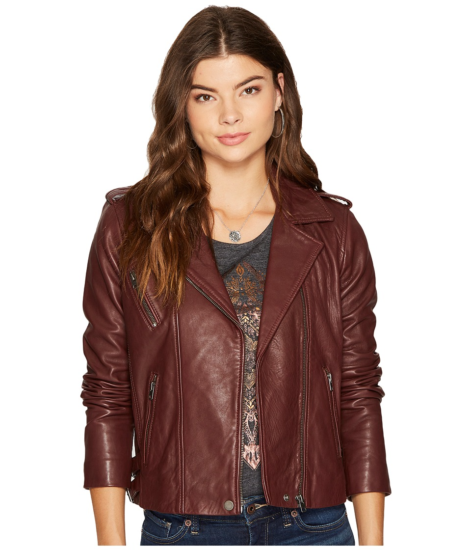 Lucky Brand - Major Moto Jacket (Burgundy) Women's Coat