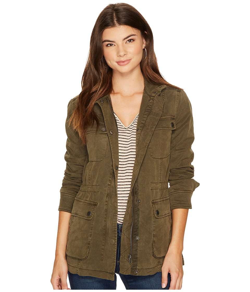Lucky Brand - Utility Jacket (Dark Sage) Women's Coat