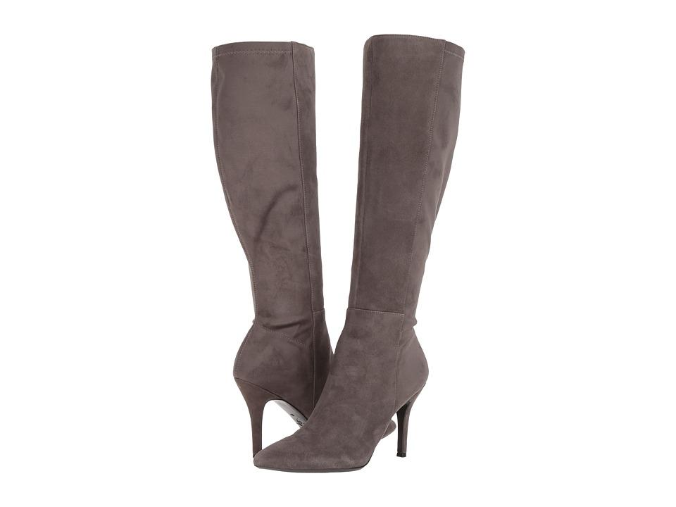 Nine West Fallon Tall Dress Boot (Dark Grey/Dark Grey Suede) Women