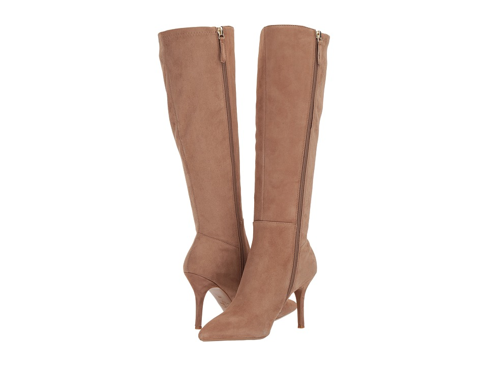 Nine West Fallon Tall Dress Boot (Natural/Natural Suede) Women