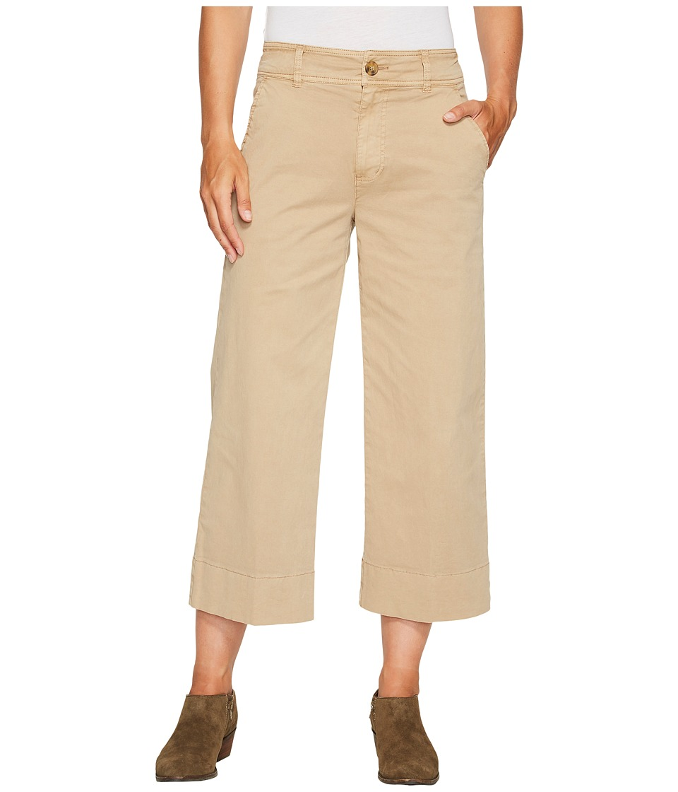 Lucky Brand - Wide Leg Crop Pants in Khaki (Khaki) Women's Jeans