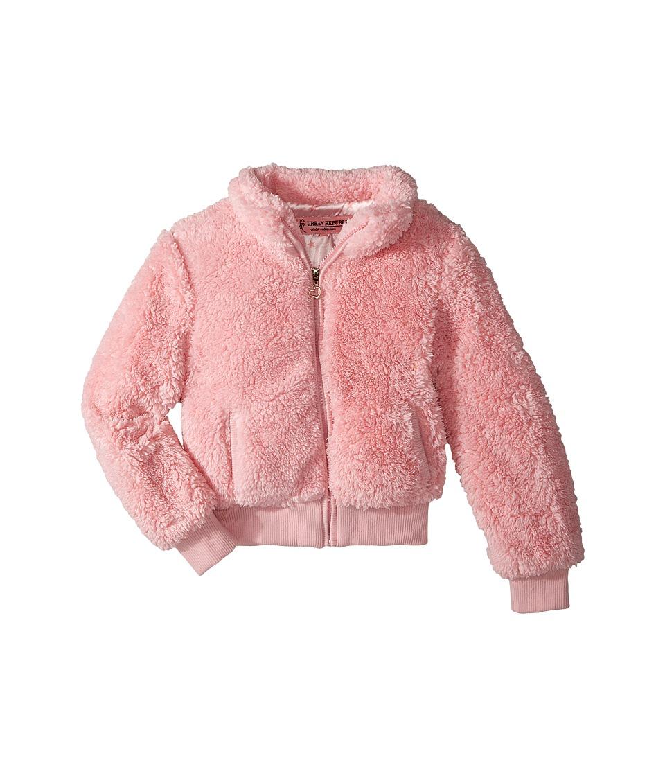 Urban Republic Kids Woobie Bomber Jacket (Little Kids/Big Kids) (Powder Pink) Girl