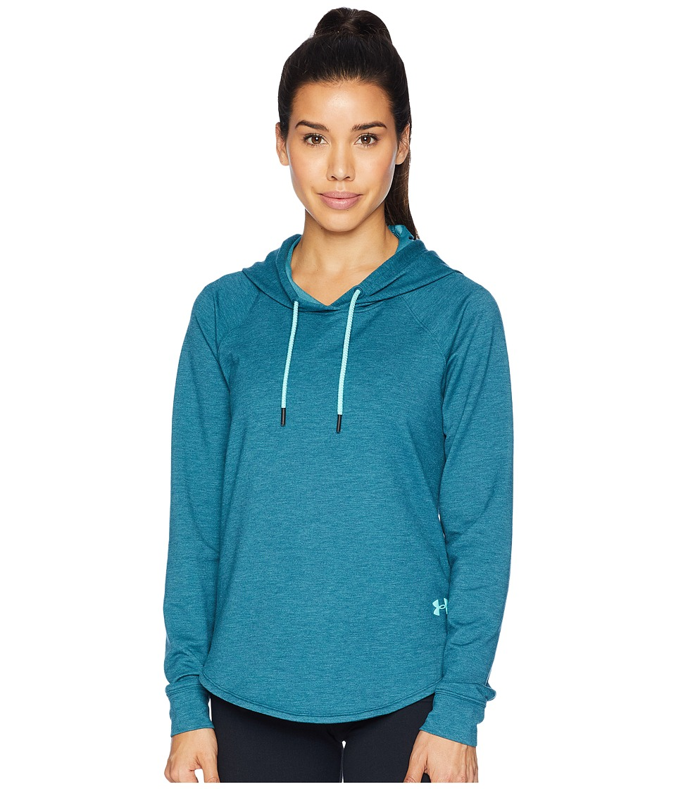 Under Armour Featherweight Fleece Pullover Hoodie (Tourmaline Teal/Tropical Tide) Women