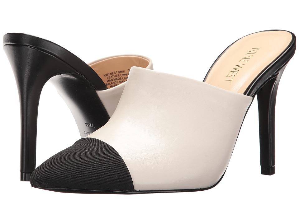 Nine West - Nestorie (Off-White/Black Leather) Women's Shoes