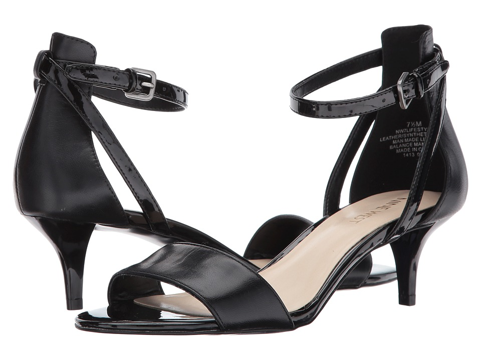 Nine West - Lifestyle (Black/Black Leather) Women's Shoes
