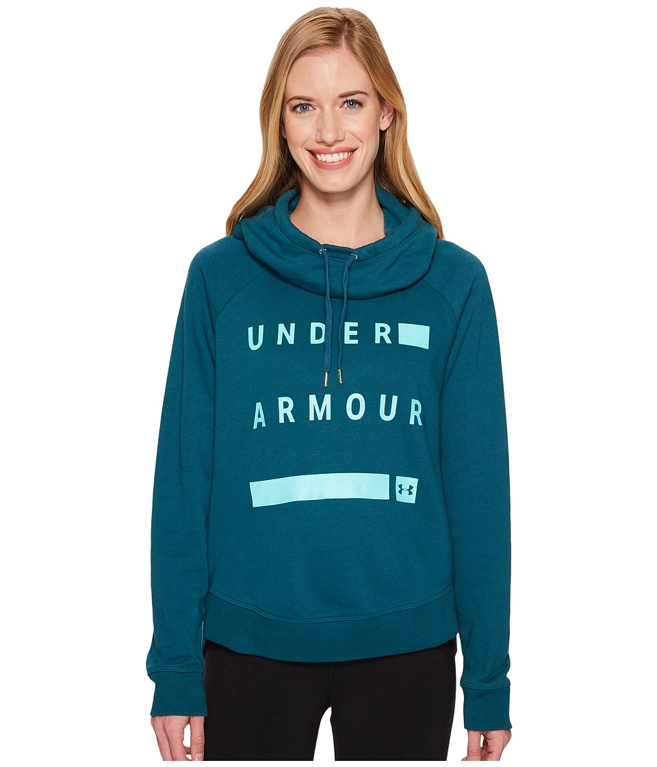 Under Armour Favorite Fleece Graphic Pullover (Tourmaline Teal/Tropical Tide/Tonal) Women