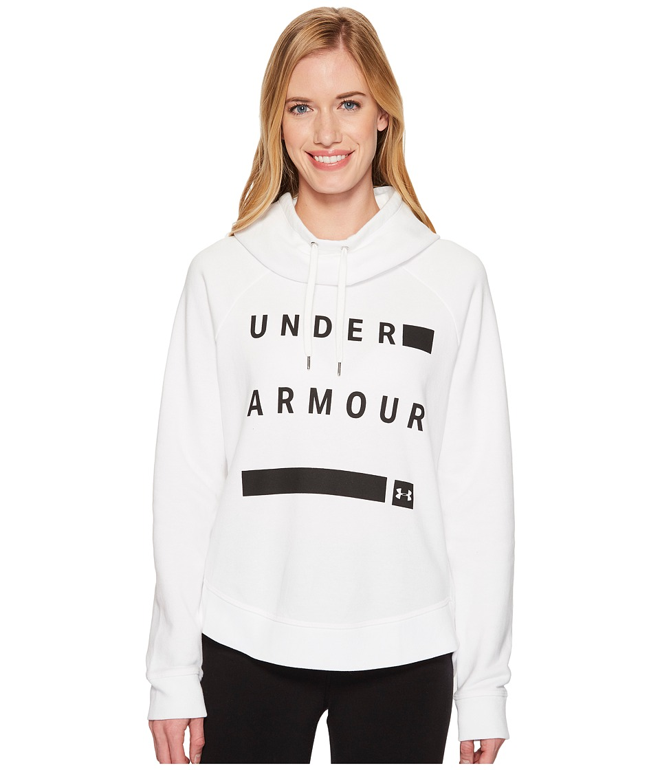 Under Armour Favorite Fleece Graphic Pullover (White/Black/Black) Women
