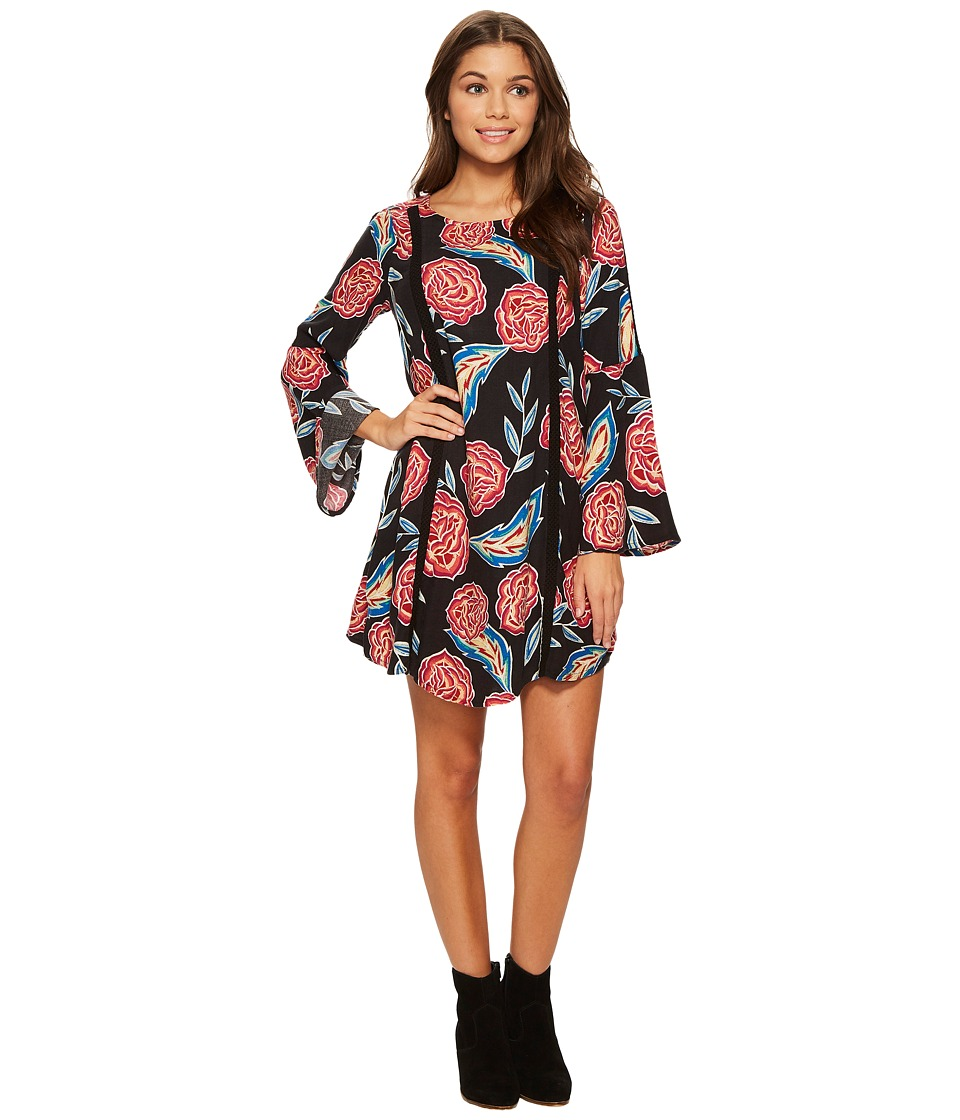 Roxy East Coast Dreamer Printed Dress (Anthracite Mexican Roses) Women