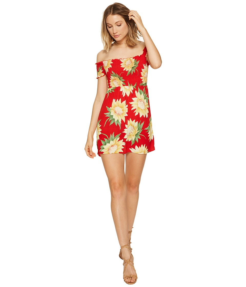 Show Me Your Mumu - Dolly Smocked Dress (Sunflower Fields) Women's Dress