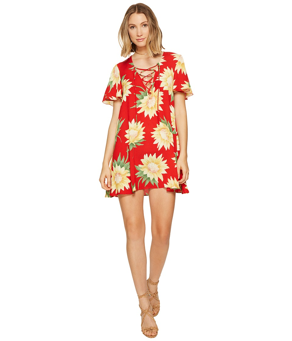Show Me Your Mumu - Kylie Lace-Up Dress (Sunflower Fields) Women's Dress